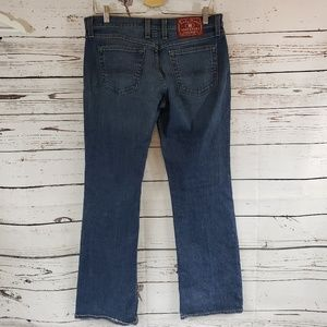 Lucky Brand Dungarees Mid Rise Flare Jeans